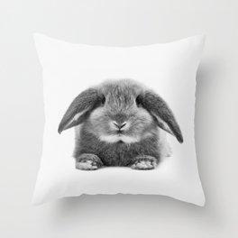 Bunny rabbit sitting Throw Pillow