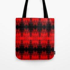 Red Black Diamond Gothic Pattern Tote Bag