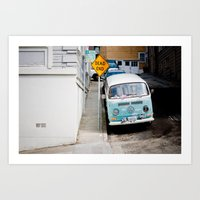 hippie Art Prints featuring Hippie by Lindsey Yeo