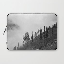 Mountains, Valleys and Forests. Yosemite National Park, Black and White Photography, Clouds and Fog Laptop Sleeve