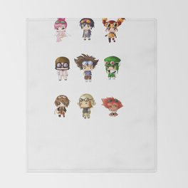 Chibi Goggles Throw Blanket