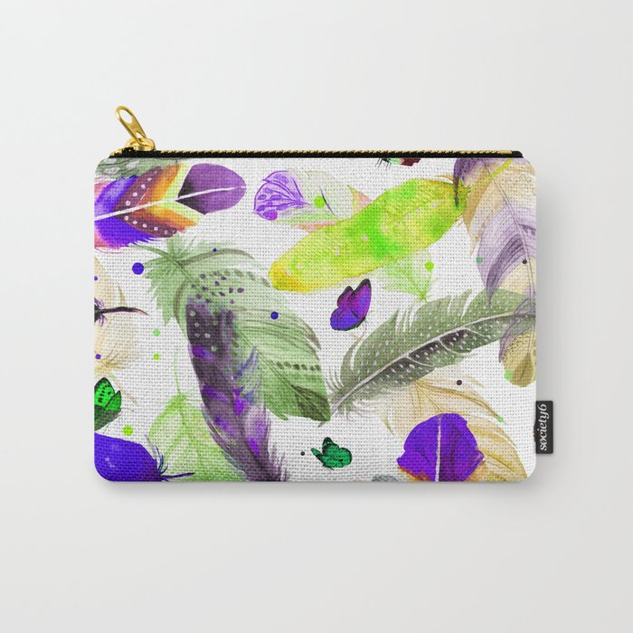 feathers and butterflies Carry-All Pouch