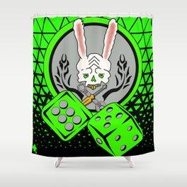 The Lucky Rabbit Shower Curtain