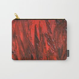 Red textured oil Carry-All Pouch