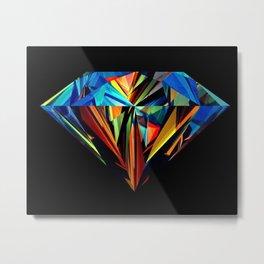 diamond mirror Metal Print