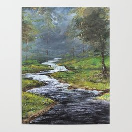 Bubbling Brook Poster
