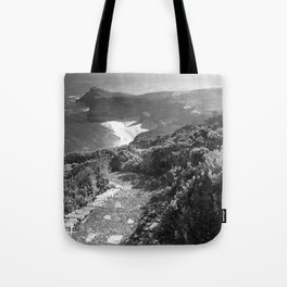 Path along cliffs of Cape Point, South Africa Tote Bag