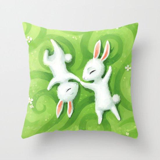 Fluffy Summer Throw Pillow