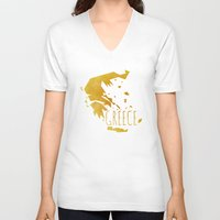 greece V-neck T-shirts featuring Greece by Stephanie Wittenburg