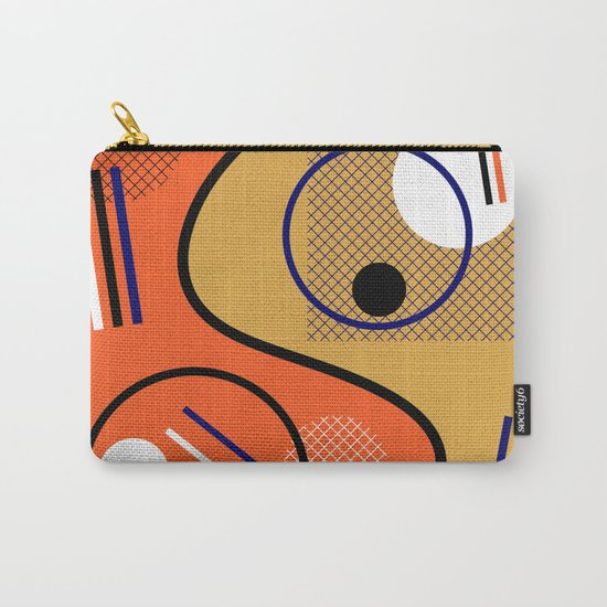 Opposing Sides - Abstract, orange and mustard, geometric, contrasting design Carry-All Pouch