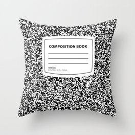 Composition Book Throw Pillow