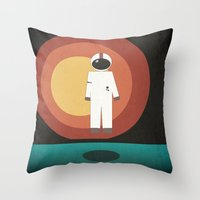 brand new Throw Pillows featuring Brand New by brittcorry
