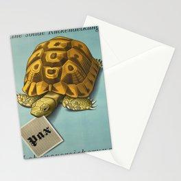 Advertisement eine solide ruckendeckung Stationery Cards