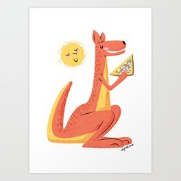 Fairy Bread Roo Art Print