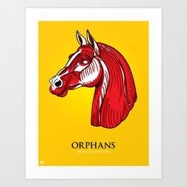 Orphans Muscle Horse Art Print