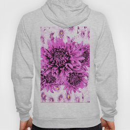 Pink Chrysanthemum Flowers Art Garden  Pattern Hoody