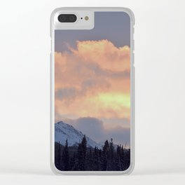 Serenity Rose Mt Sunrise Clear iPhone Case