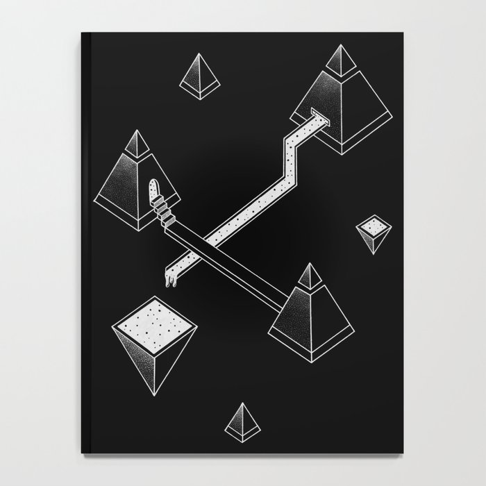 Black Space Pyramids Notebook