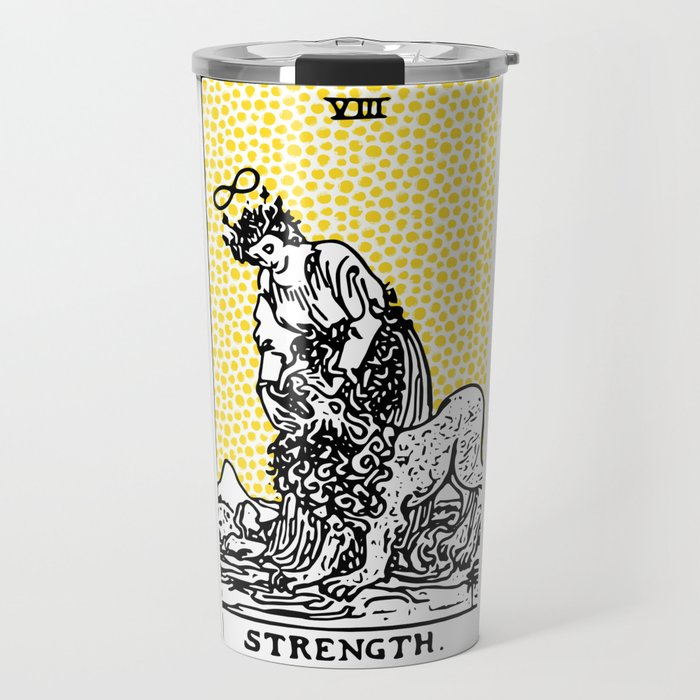 Modern Tarot Design - 8 Strength Travel Mug