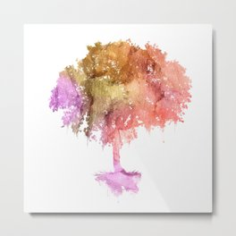 Watercolor tree painting Metal Print