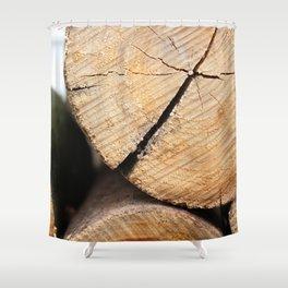 Wood Pile Shower Curtain