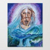 jesus Canvas Prints featuring Jesus by gretzky