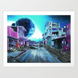 Street of Sky Art Print