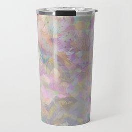 Sweet Spring Pastel Floral Abstract Travel Mug