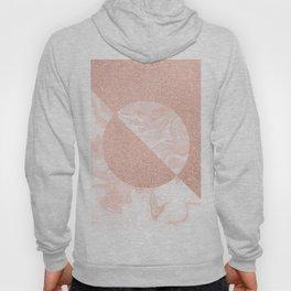 Rose Glitter and Blush Marble Hoody