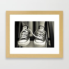 Converse All Star Print Framed Art Print