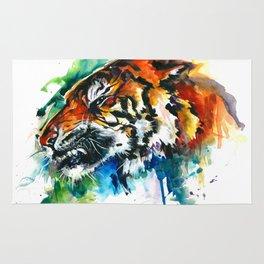 Orange Mad Tiger Watercolor Rug