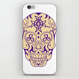 Mexican Skull  With Triskele and Celtic Cross Tattoo iPhone Skin