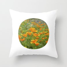 california poppy VIII Throw Pillow
