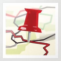 paper towns Art Prints featuring Paper Towns by Dreki