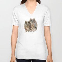 Baby Owls Unisex V-Neck
