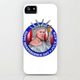 Happy Independence Day July 4th Statue of Liberty Memorial Tee Shirt iPhone Case