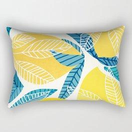 Lemon Tree / Abstract Fruit Art Rectangular Pillow