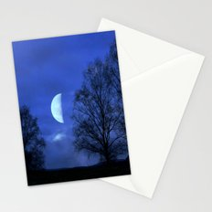 Moon between Trees  - JUSTART © Stationery Cards