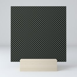 Black and Sea Spray Polka Dots Mini Art Print