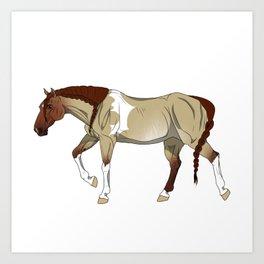 Red Dun Zebra-Striped Sabino Tobiano Paint Horse Art Print