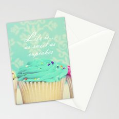 Life is as Sweet as Cupcakes Stationery Cards
