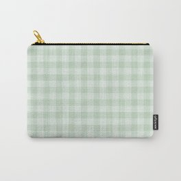 Gingham Pattern - Light Green Carry-All Pouch