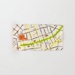 Tel Aviv map - Rothschild Blvd. Hebrew Hand & Bath Towel