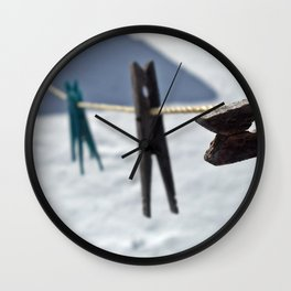 Clothes-lined  Wall Clock