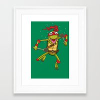 muppet Framed Art Prints featuring TEENAGE MUPPET NINJA PUPPET by T.a. Bryant
