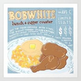 Restaurants of NYC: Bobwhite Counter Art Print