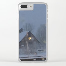 I <3 Snow Clear iPhone Case