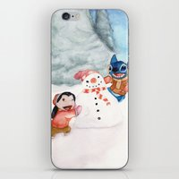 lilo and stitch iPhone & iPod Skins featuring Lilo and Stitch by Walko