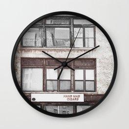 Hand mad cigars on Sixth Avenue Wall Clock