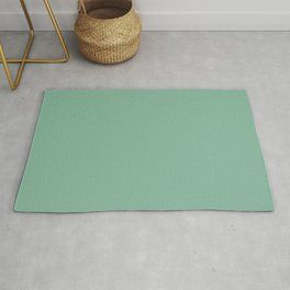 Dark Pastel Mint Green Solid Color - Pairs with Farrow & Ball Arsenic 214 Rug